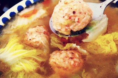 娃娃菜虾丸汤