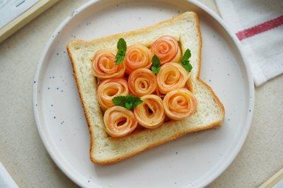 创意早餐:苹果玫瑰花吐司