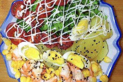 减脂蔬菜沙拉晚餐