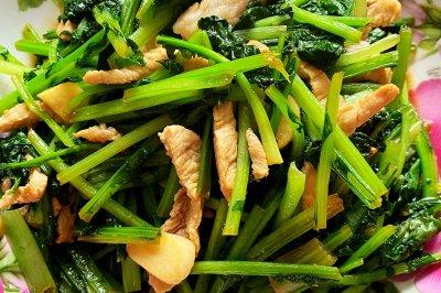 小苔菜炒肉
