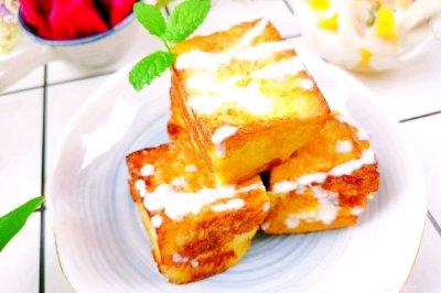 不用烤箱的甜品:酸奶西多士