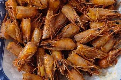 香辣椒盐虾头