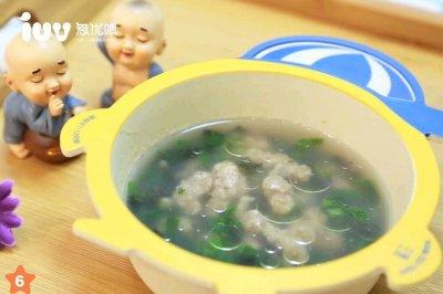 12m+宝宝餐肉丸紫菜鲜汤