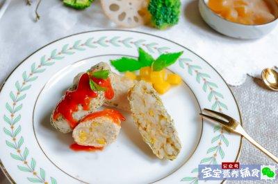 宝宝辅食鸡肉米饭条