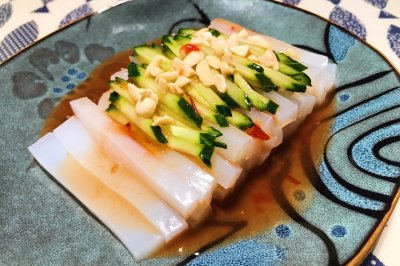 酸甜辣有东南亚口味的开心凉粉