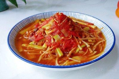 菇瓜肉酱茄茄汤