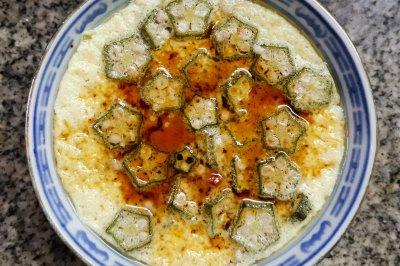 养胃早餐:秋葵蒸蛋