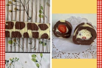 长颈鹿奶油蛋糕卷