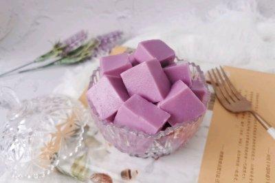 紫薯牛奶布丁