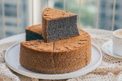 8寸黑米戚风蛋糕