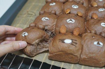 超级治愈的布朗熊可可面包