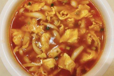 自创白玉菇番茄鸡蛋汤