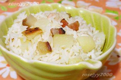 铁锅咸肉土豆烘饭