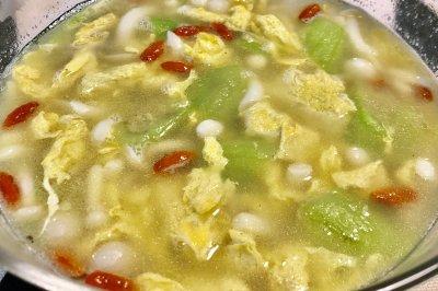 丝瓜玉菇汤