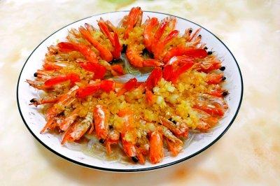 蒜蓉蒸草虾