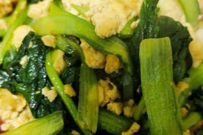 家常小炒小白菜炒豆腐
