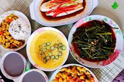清蒸龙利鱼+咖喱鸡肉饭