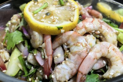 百香果柠檬虾