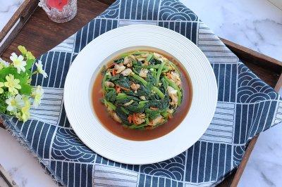 菠菜炝拌蛤蜊肉