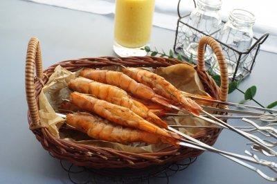 香烤酱汁虾串