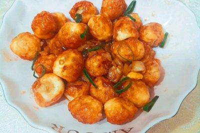 蒜蓉蚝油虎皮鹌鹑蛋