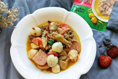 创意料理酸汤荔枝鸡