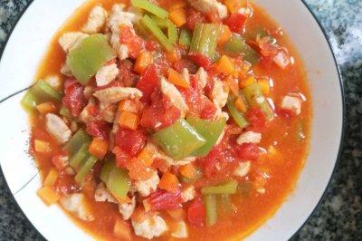 减脂餐维生素多的茄汁鸡胸肉