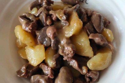 鸡心鸭胗炖土豆