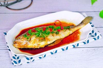 柠香蒸黄鱼