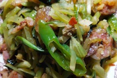 今日招牌菜:莴笋炒腊肉