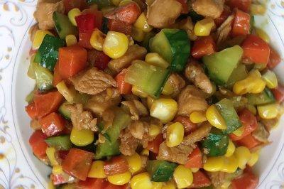 宫保鸡丁:花生换玉米