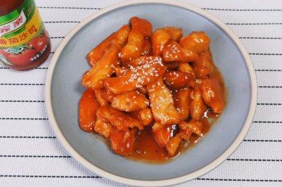 下饭必备:番茄酱版糖醋鸡柳