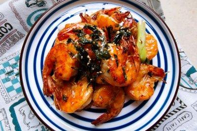 芝麻海苔虾