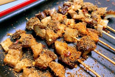 大口吃素羊肉串