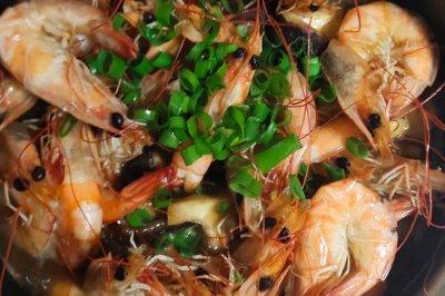 砂锅香菇虾