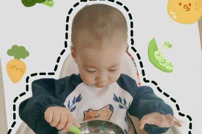 宝宝辅食:虾仁菠菜挤挤面