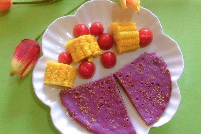 减脂必备主食之奶香紫薯饼