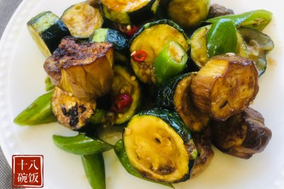 夏季快手沙拉:烤西葫芦茄子沙拉