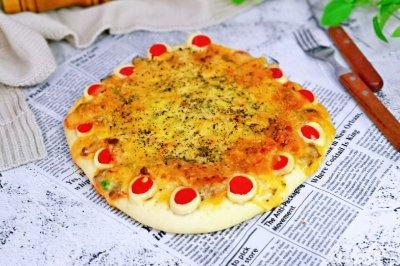 黑胡椒牛排花式披萨