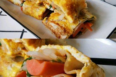 东北特色小吃:电饼铛烤冷面