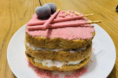 樱花荔枝酸奶蛋糕