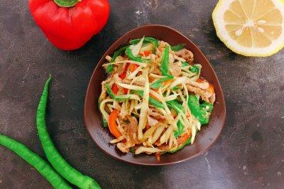 超级下饭菜子姜肉丝