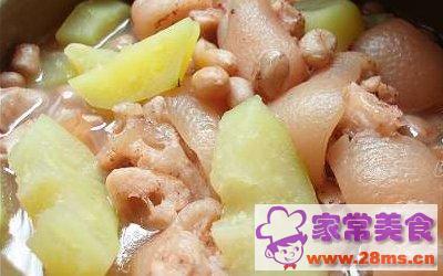 花生冬菇猪脚汤